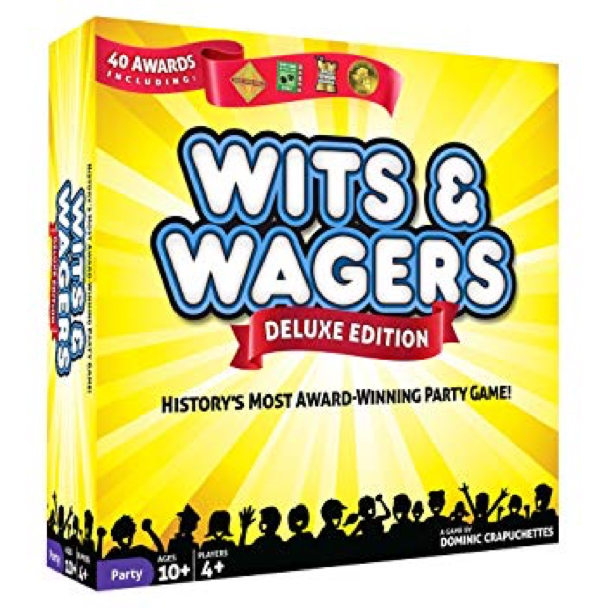 North Star Games Wits & Wagers Board Game | Deluxe Edition, Kid Friendly Party Game and Trivia from Amazon