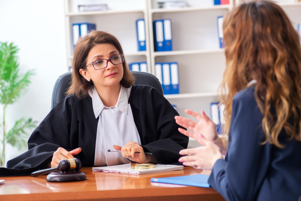 Woman meeting with divorce lawyer
