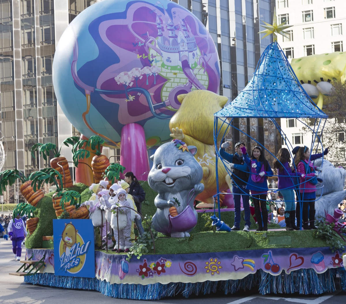 NEW YORK - NOVEMBER 22: Zhu Zhu Pets characters ride the float at the 86th Annual Macy's Thanksgiving Day Parade on November 22, 2012 in New York City. - Image