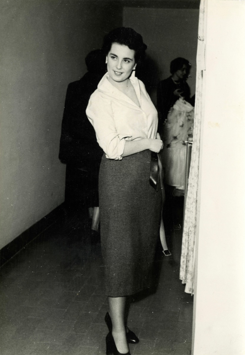 Woman in a Skirt in 1950