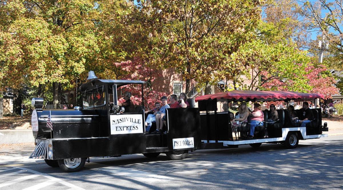 Brown County - Nashville Indiana. Train takes you on a tour around town.