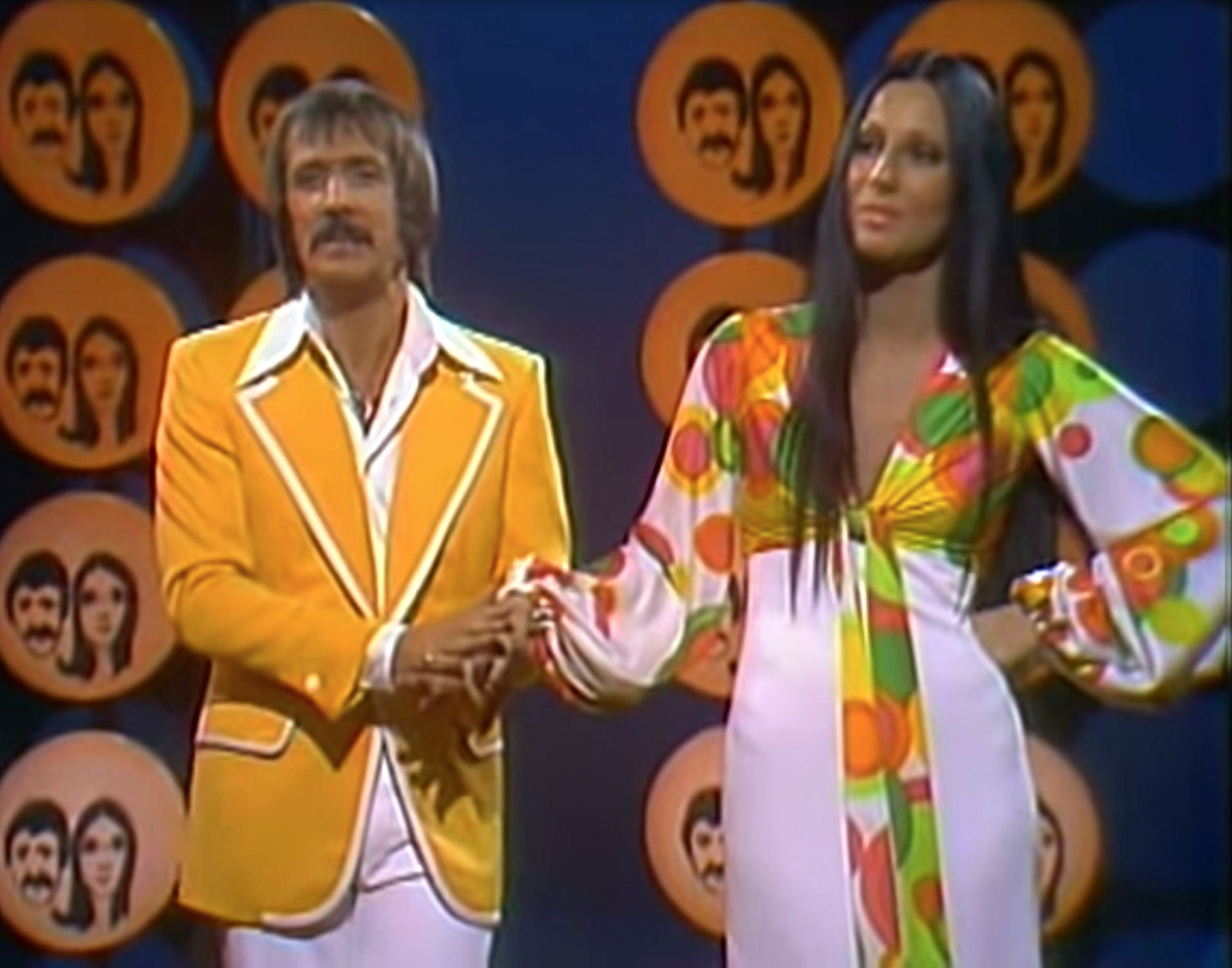 Sonny Bono and Cher on The Sonny and Cher Show