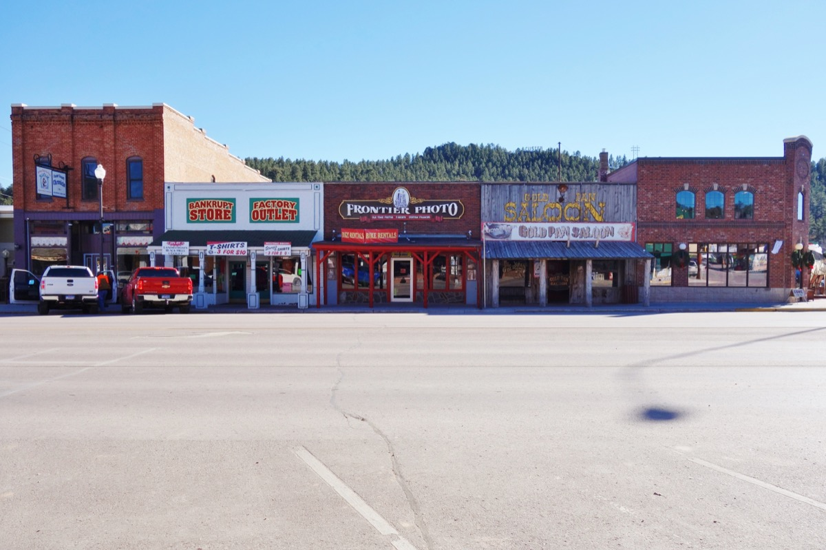 CUSTER, SD -7 NOV 2015- The Gold Rush town of Custer in the Black Hills of South Dakota in Sioux territory is next to the Crazy Horse Memorial currently in construction. - Image