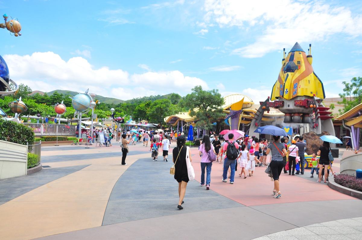 Tomorrow Land zone in Disneyland Hong Kong. Hong Kong island, China. 30 July 2011. - Image