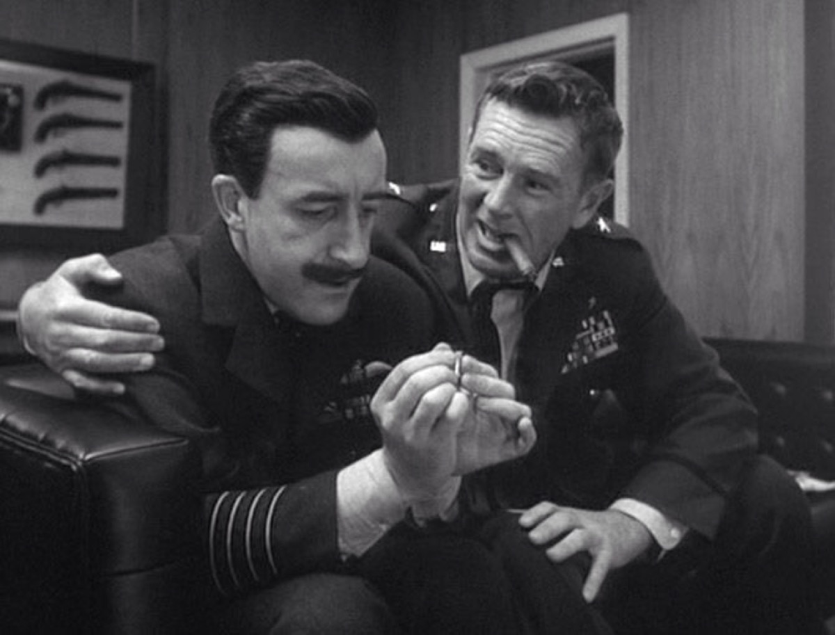 Peter Sellers and Sterling Hayden in Dr. Strangelove or: How I Learned to Stop Worrying and Love the Bomb (1964)