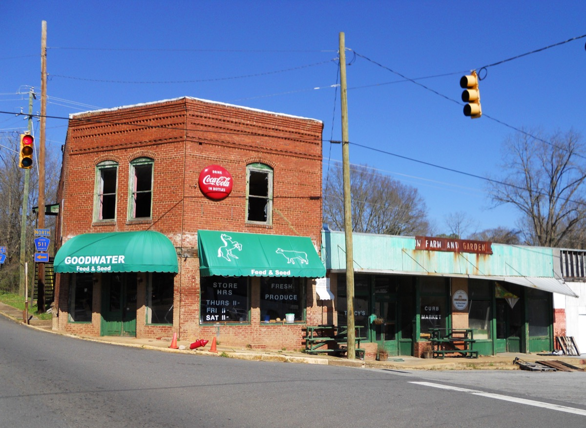 photo of store in Goodwater, Alabama, one of the most boring towns in America