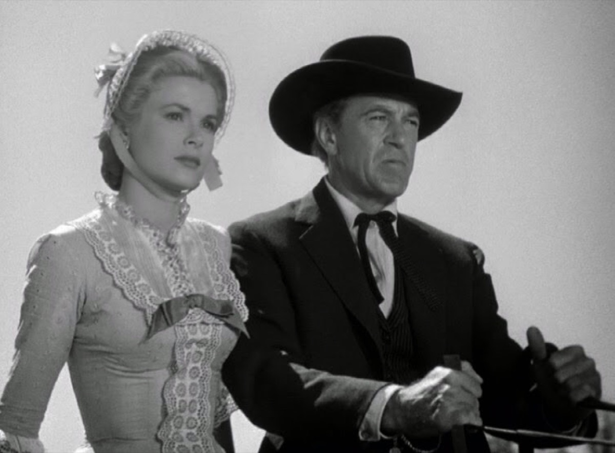 Gary Cooper and Grace Kelly in High Noon (1952)