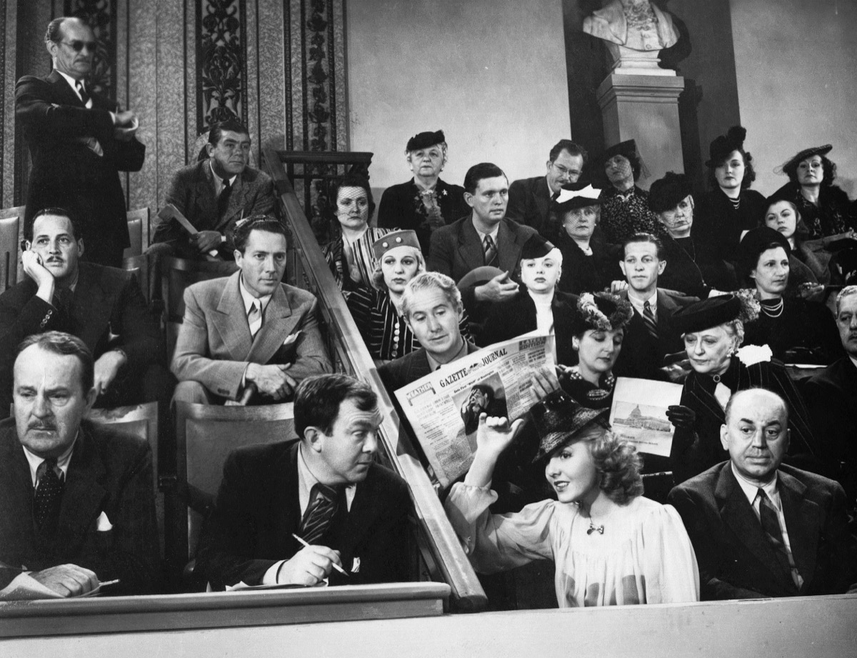 Jean Arthur and Thomas Mitchell in Mr. Smith Goes to Washington (1939)