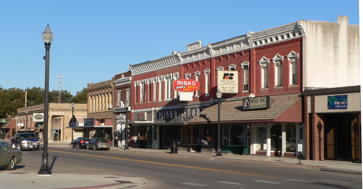 Downtown Ord, Nebraska: north side of L Street, looking northwest from about 15th Street.