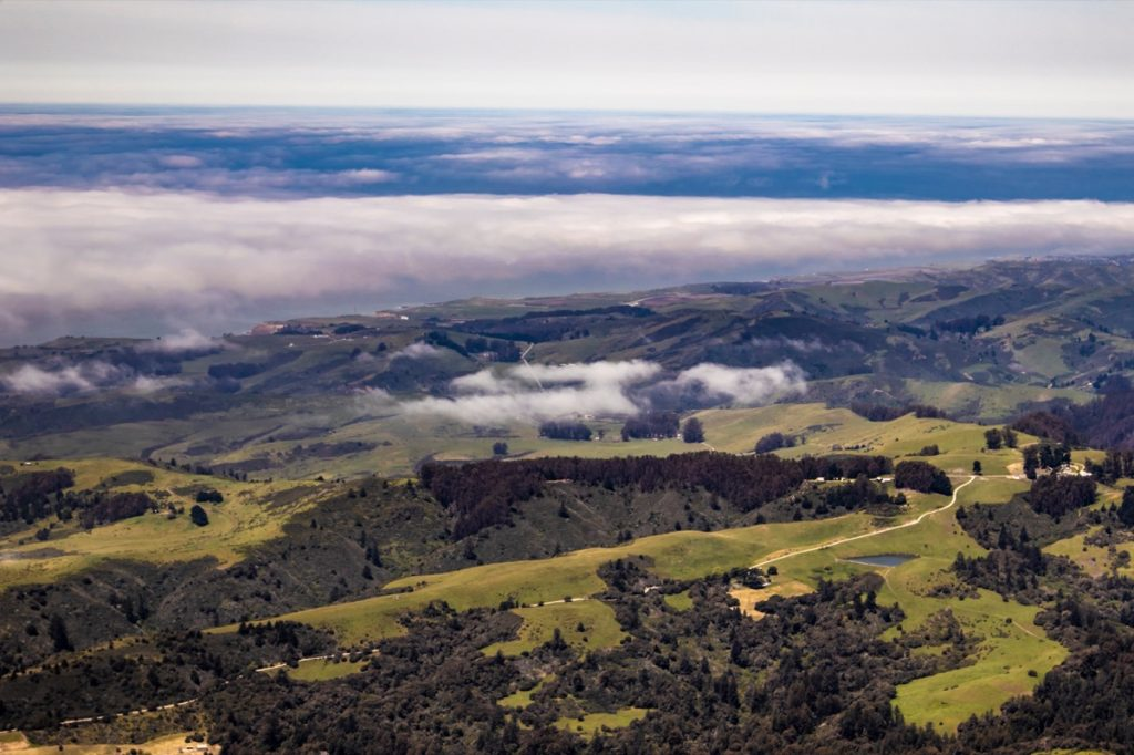 Clouds Hang Low over the Rolling Hills of Portola Valley outside of Silicon Valley, California, USA - Image