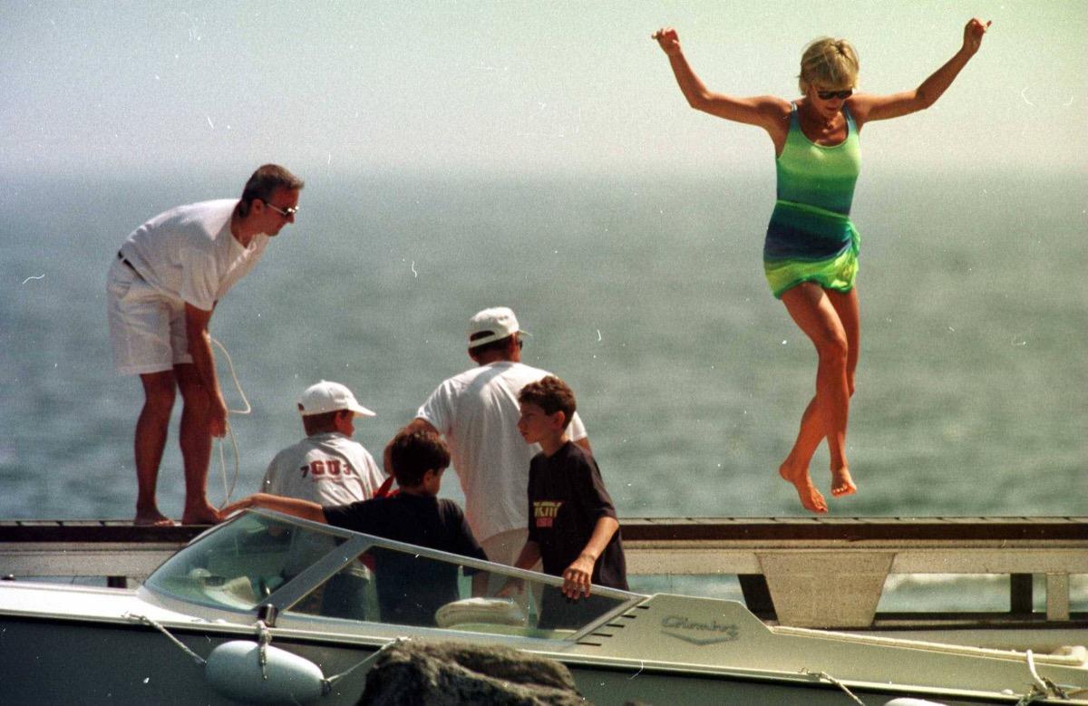 Princess Diana in St. Tropez