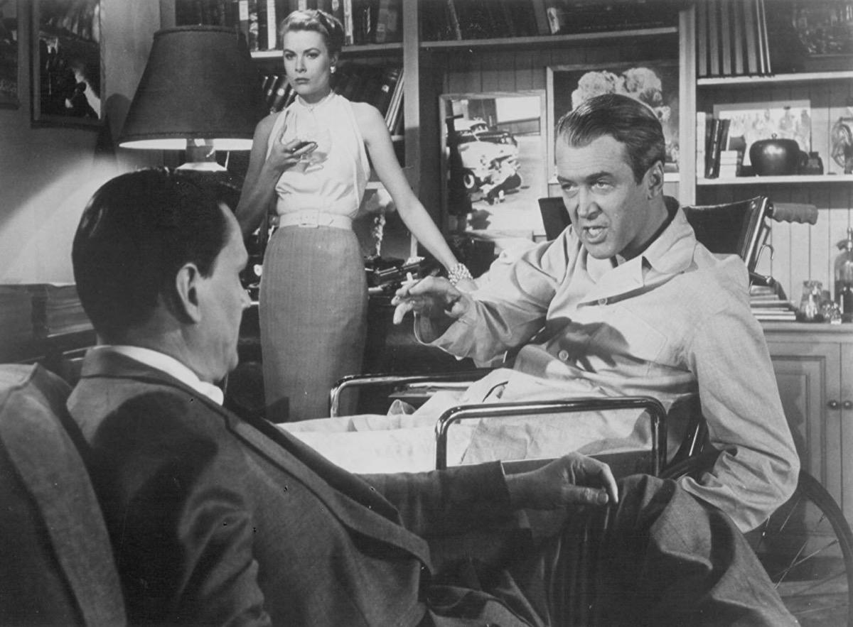 Grace Kelly, James Stewart, and Wendell Corey in Rear Window (1954)