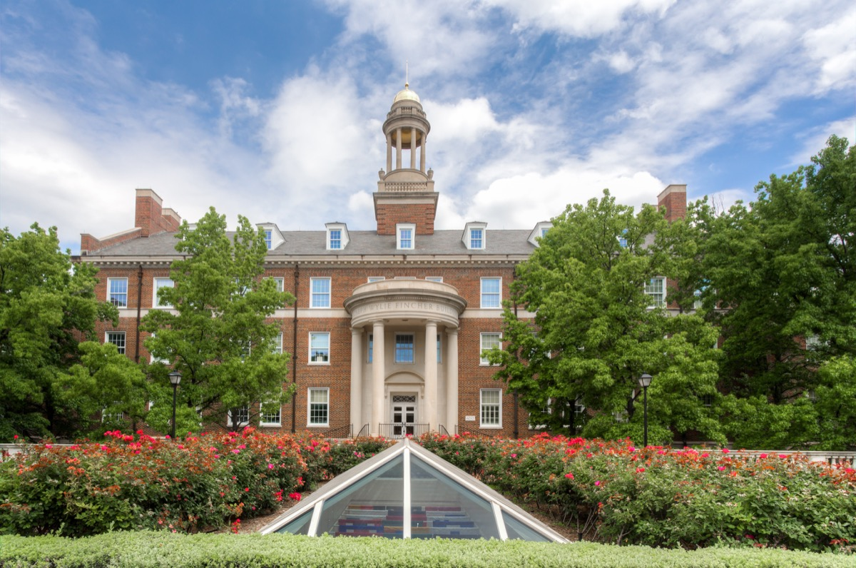 DALLAS, TX/USA - MAY 21, 2016: Joseph Wylie Fincher Building at Southern Methodist University. SMU is a private research university in Dallas, University Park, and Highland Park, Texas. - Image