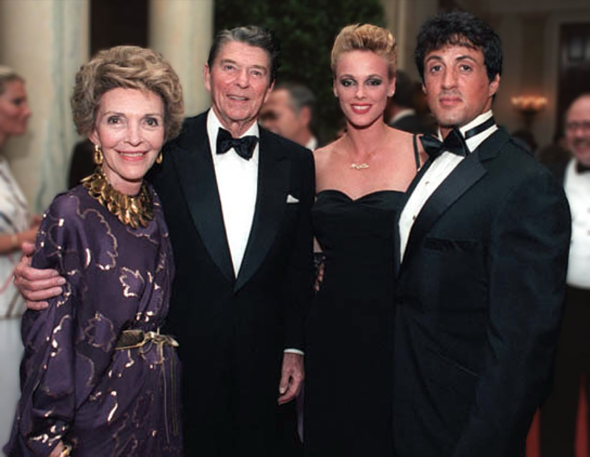 with President Ronald Reagan and wife Nancy Reagan