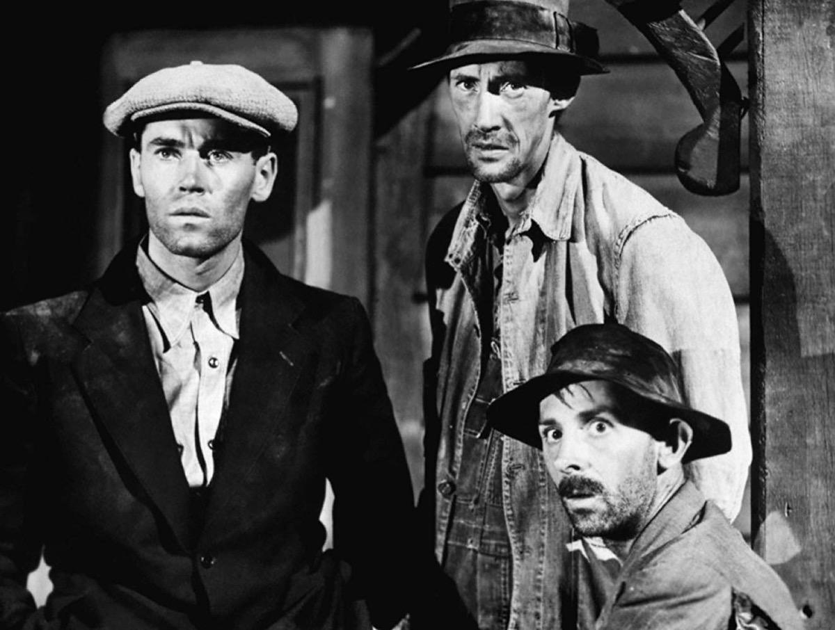 Henry Fonda, John Carradine, and John Qualen in The Grapes of Wrath (1940)