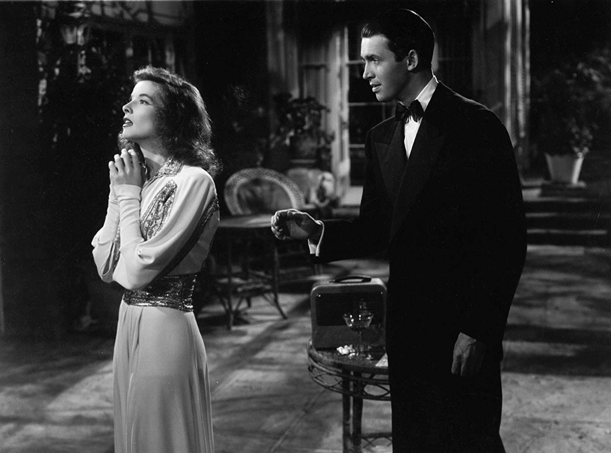 Katharine Hepburn and James Stewart in The Philadelphia Story (1940)