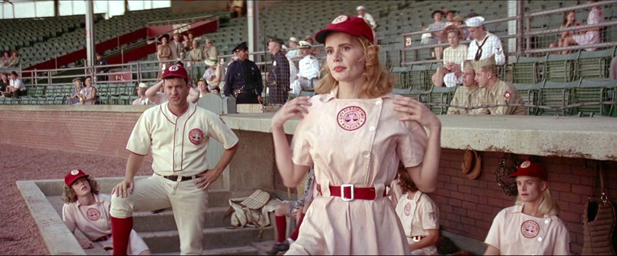 Geena Davis and Tom Hanks in A League of Their Own (1992)