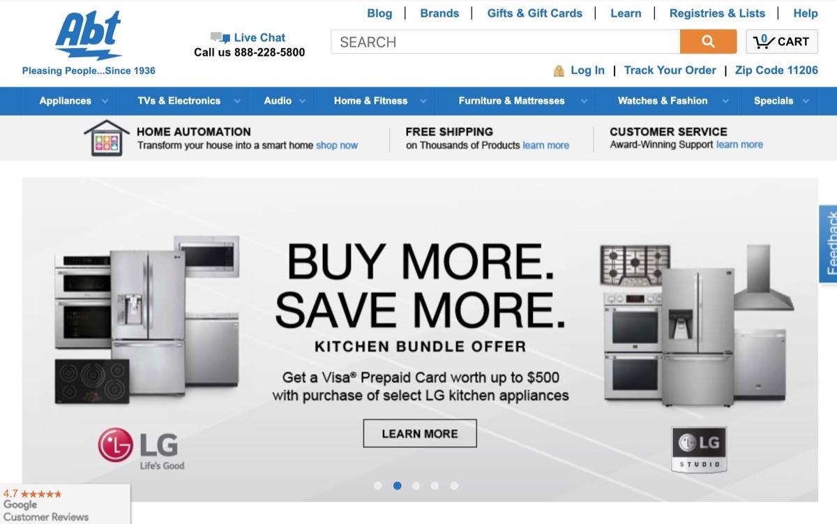 Abt Website {Save Money on Kitchen Appliances}