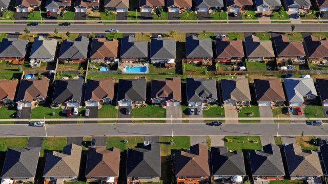 an aerial view of generic american suburbia, worst things about the suburbs