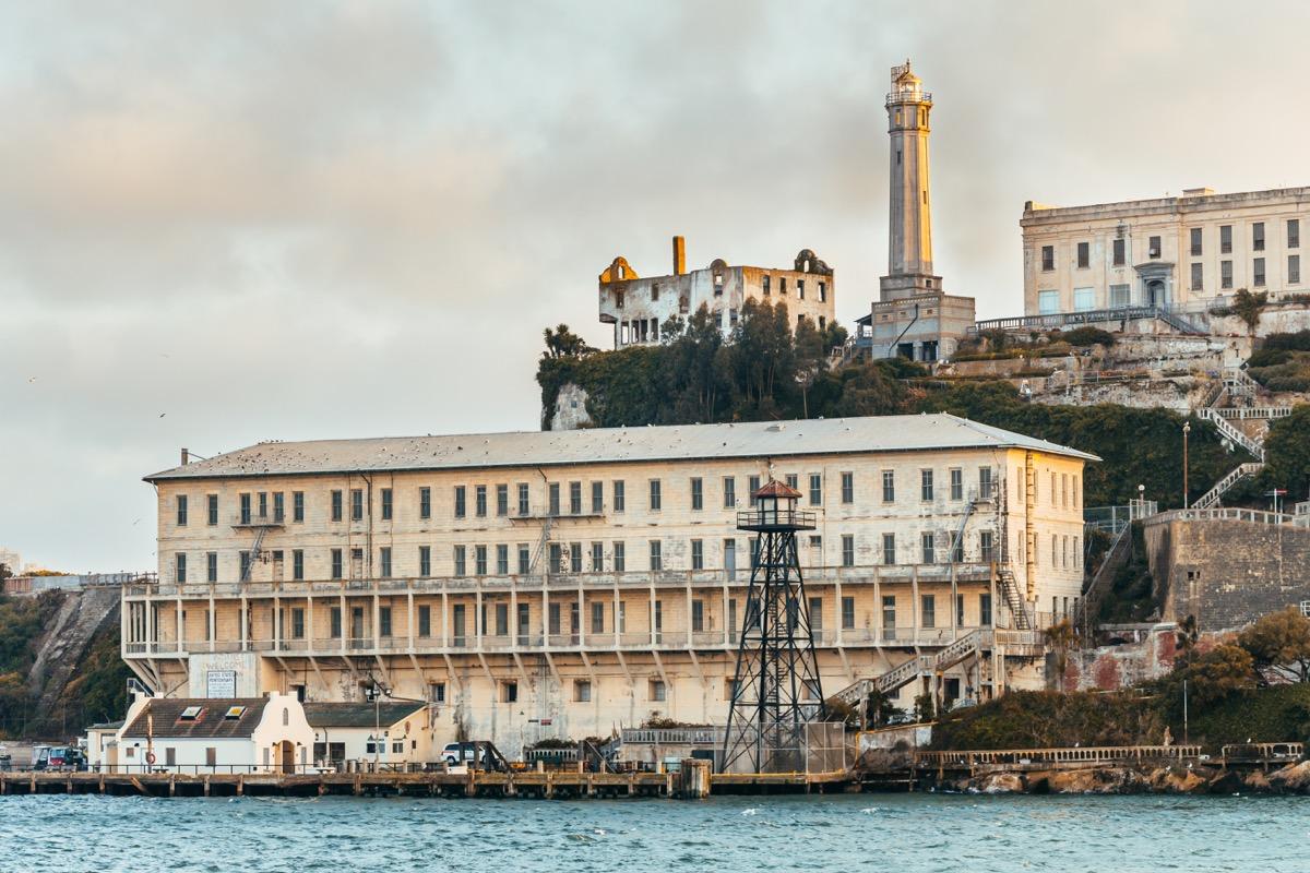 alcatraz prison in san francisco bay area