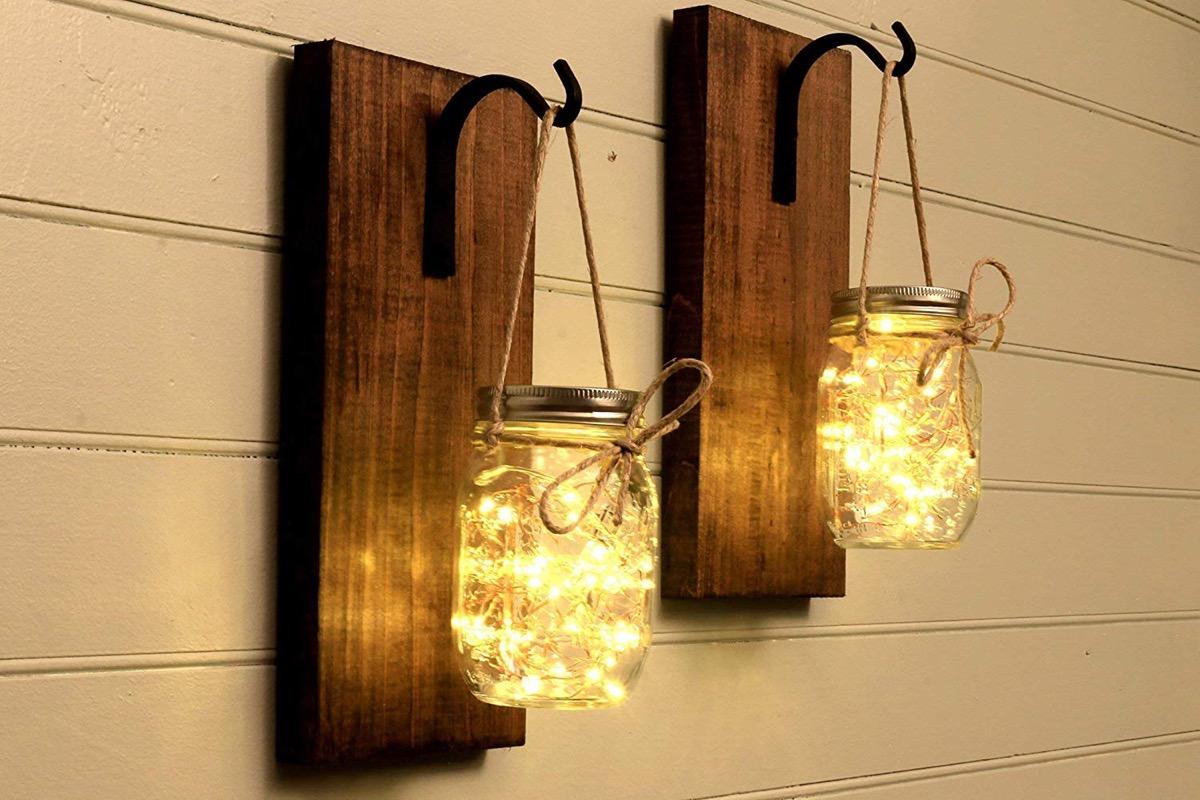 Mason Jar Wall Sconces From Amazon {Handmade Items From Amazon}