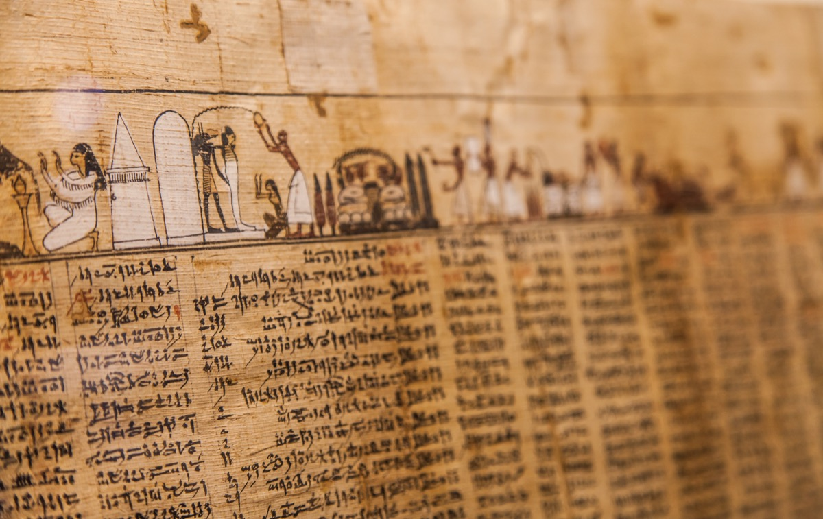 Detail of ancient Book of the Dead (1070 BC), Thebes - Egypt - Image