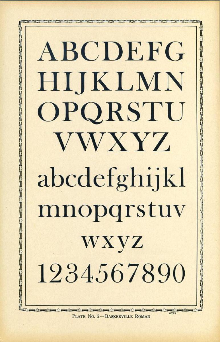 alphabet baskerville font, smarter facts