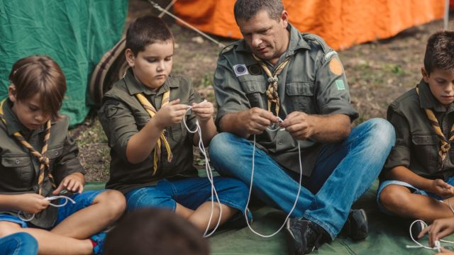 Scouts Learn To Tie The Knot