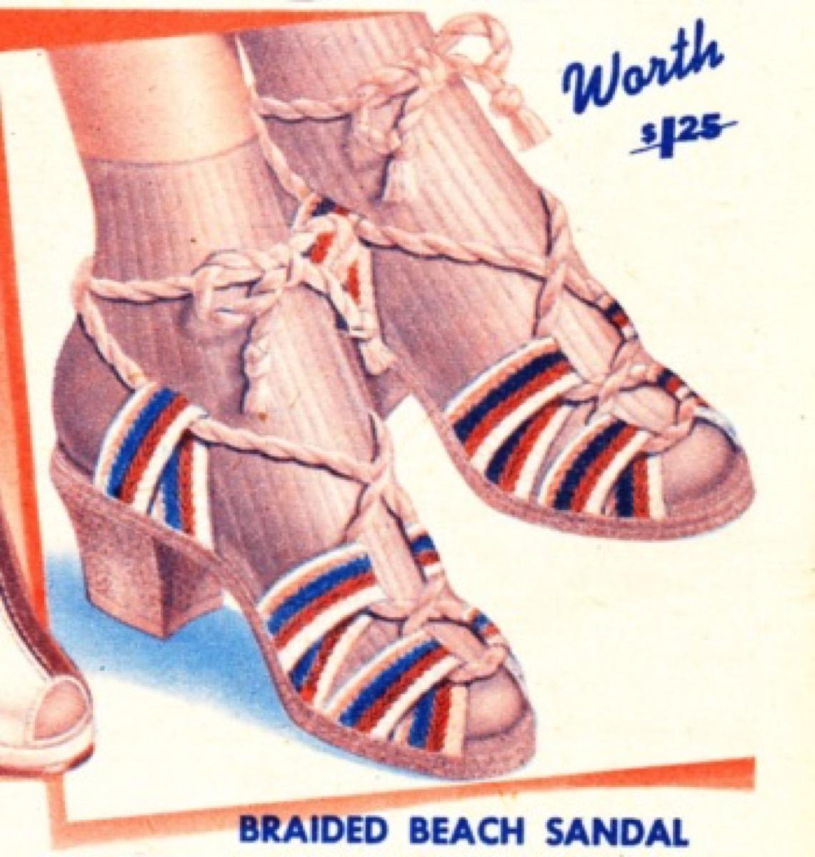 1940s Braided Espadrilles
