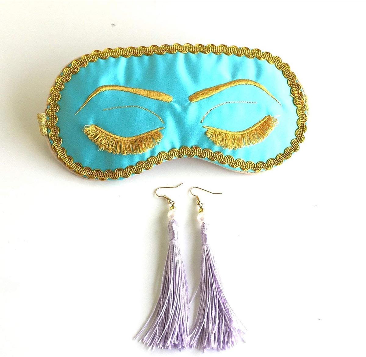Breakfast at Tiffany's Sleep Mask Set {Handmade Items From Amazon}