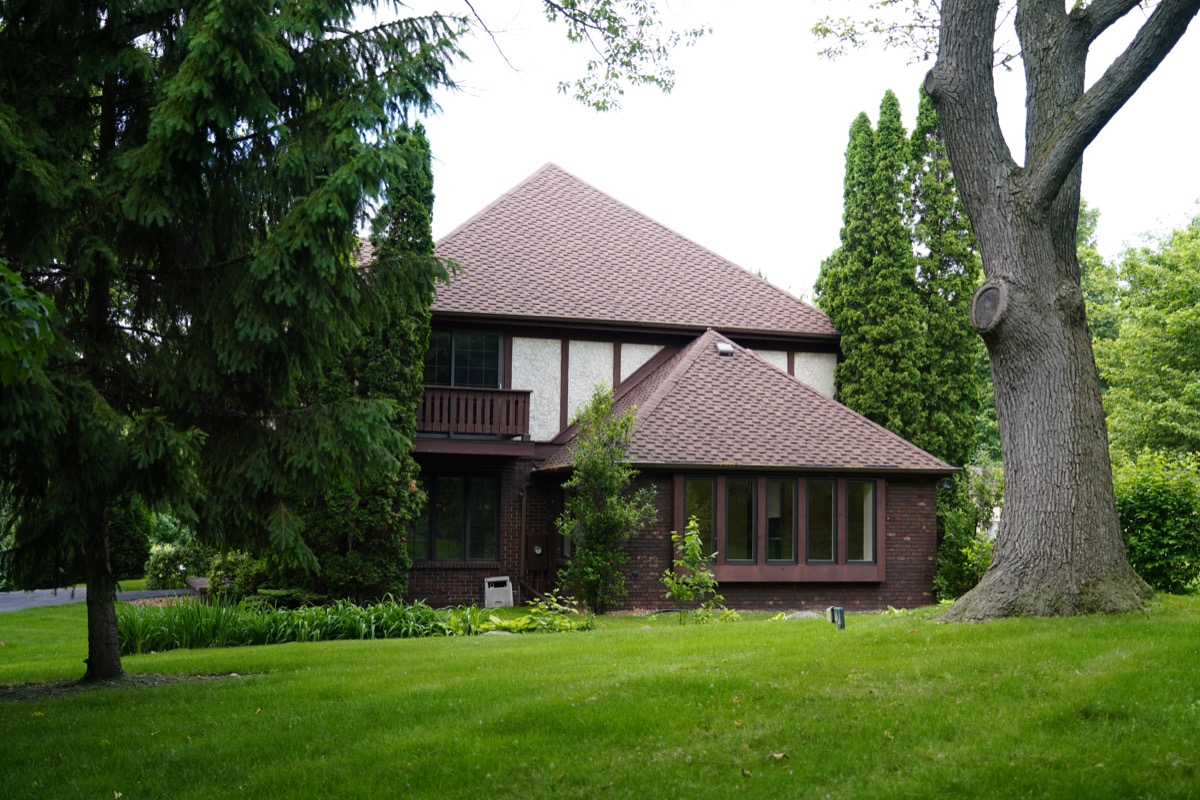 brown 1970s home exterior