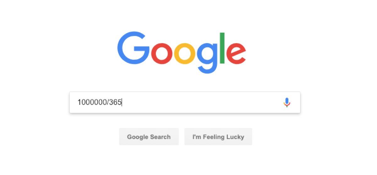 google calculator search - google tricks