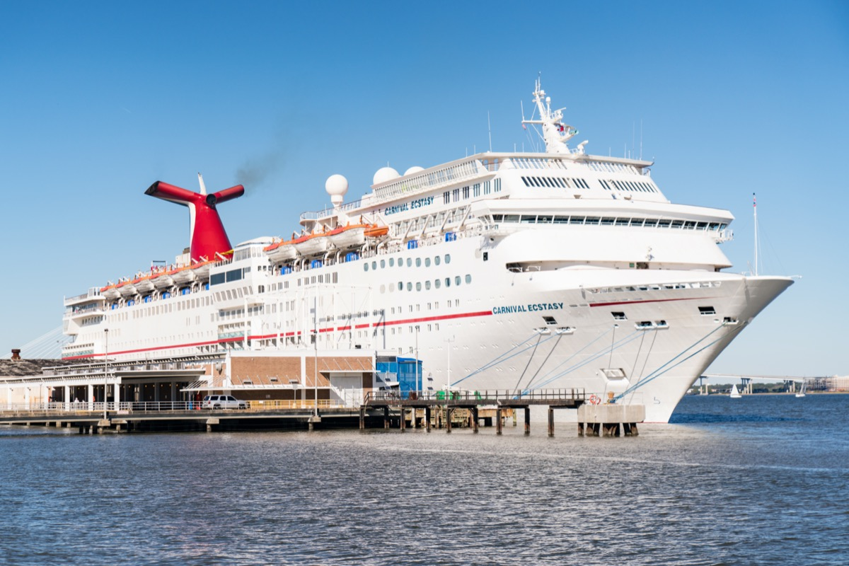 the carnival ecstasy docked cruise ship facts