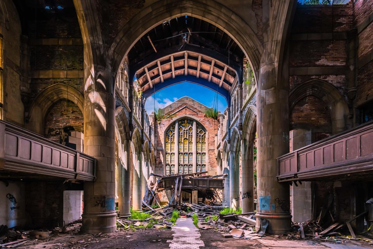 City Methodist Church Gary Indiana creepiest abandoned buildings