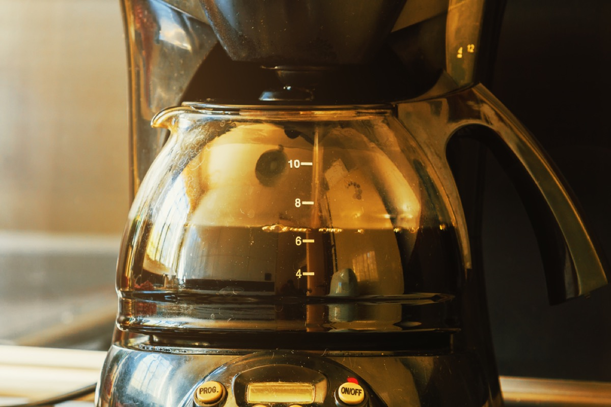 coffee pot, old fashioned cleaning hacks