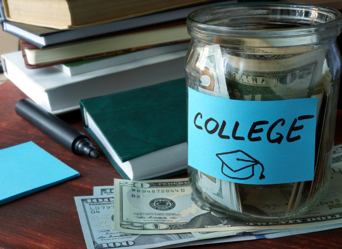 jar with college savings money in it, things that annoy grandparents