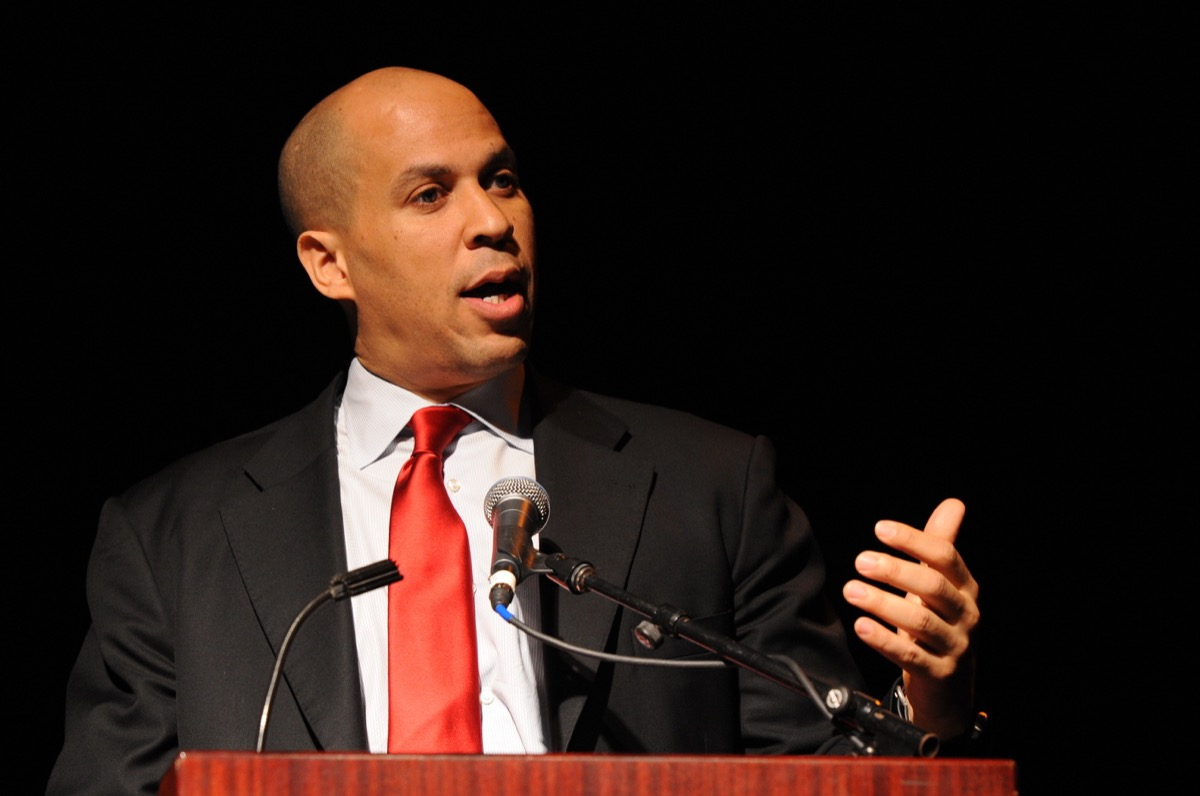 vegan celebrities - MAHWAH, NJ-MAY 3: The Honorable Cory Booker, Mayor City of Newark, speaks at the Russ Berrie Awards for Making A Difference Celebration on May 3, 2011 at Ramapo College of New Jersey in Mahwah, NJ. - Image