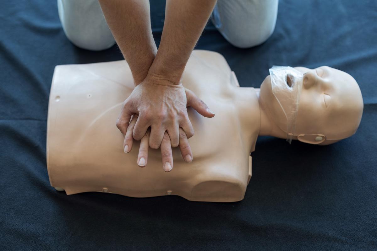 Cardiopulmonary resuscitation or CPR training
