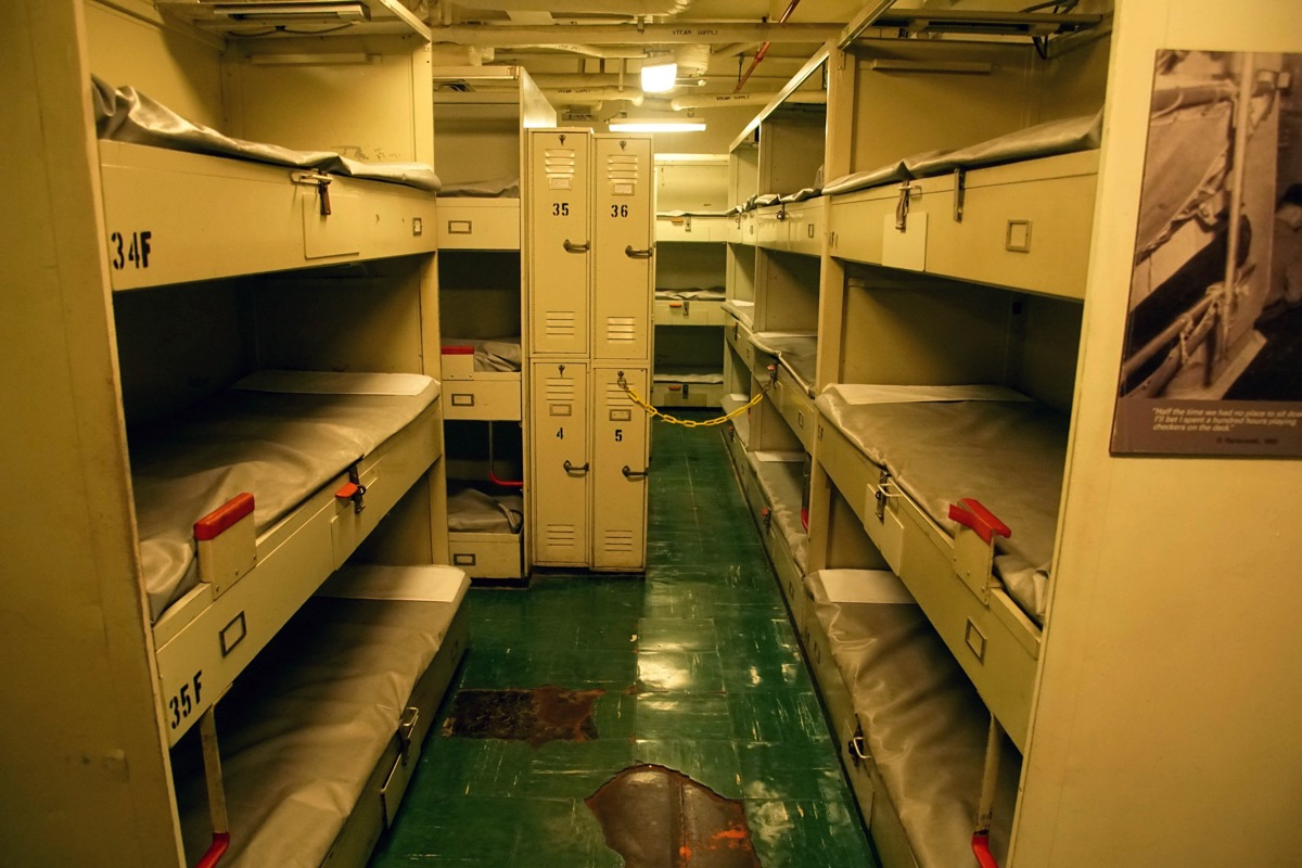 Crew quarters cruise ship facts