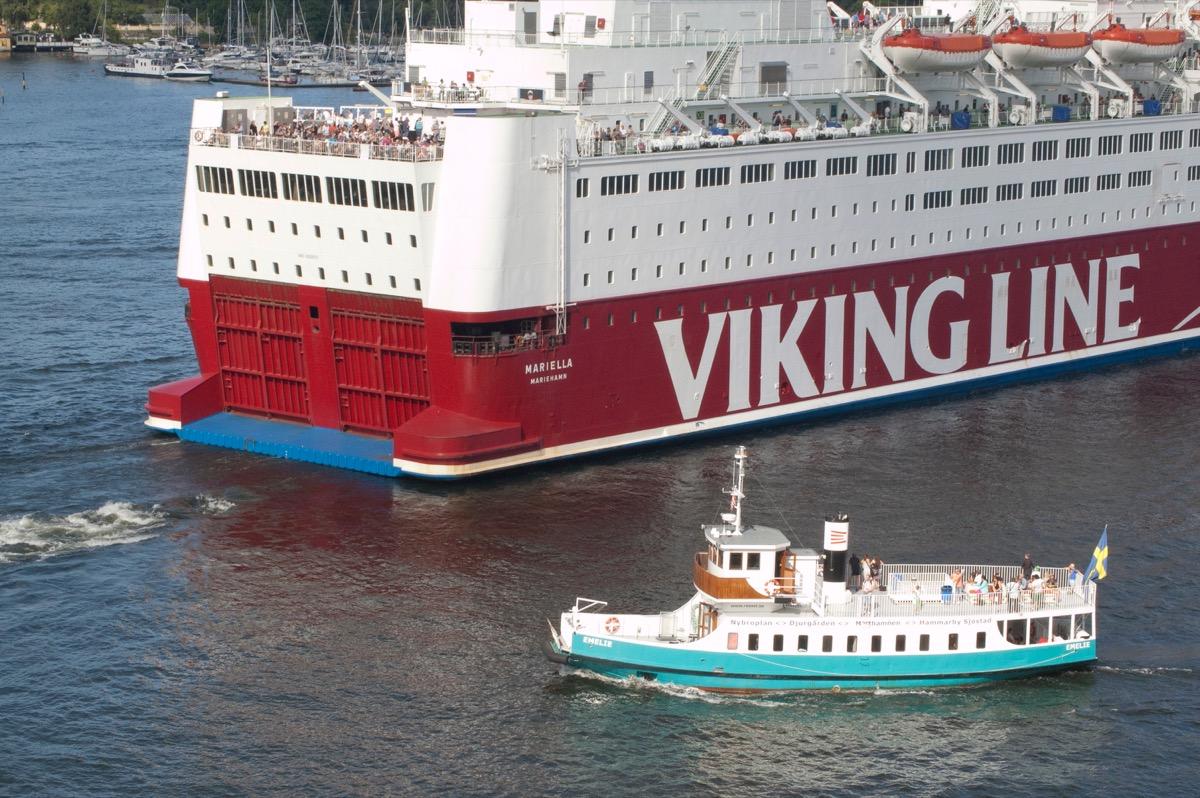 Cruise ship with smaller ship cruise ship facts