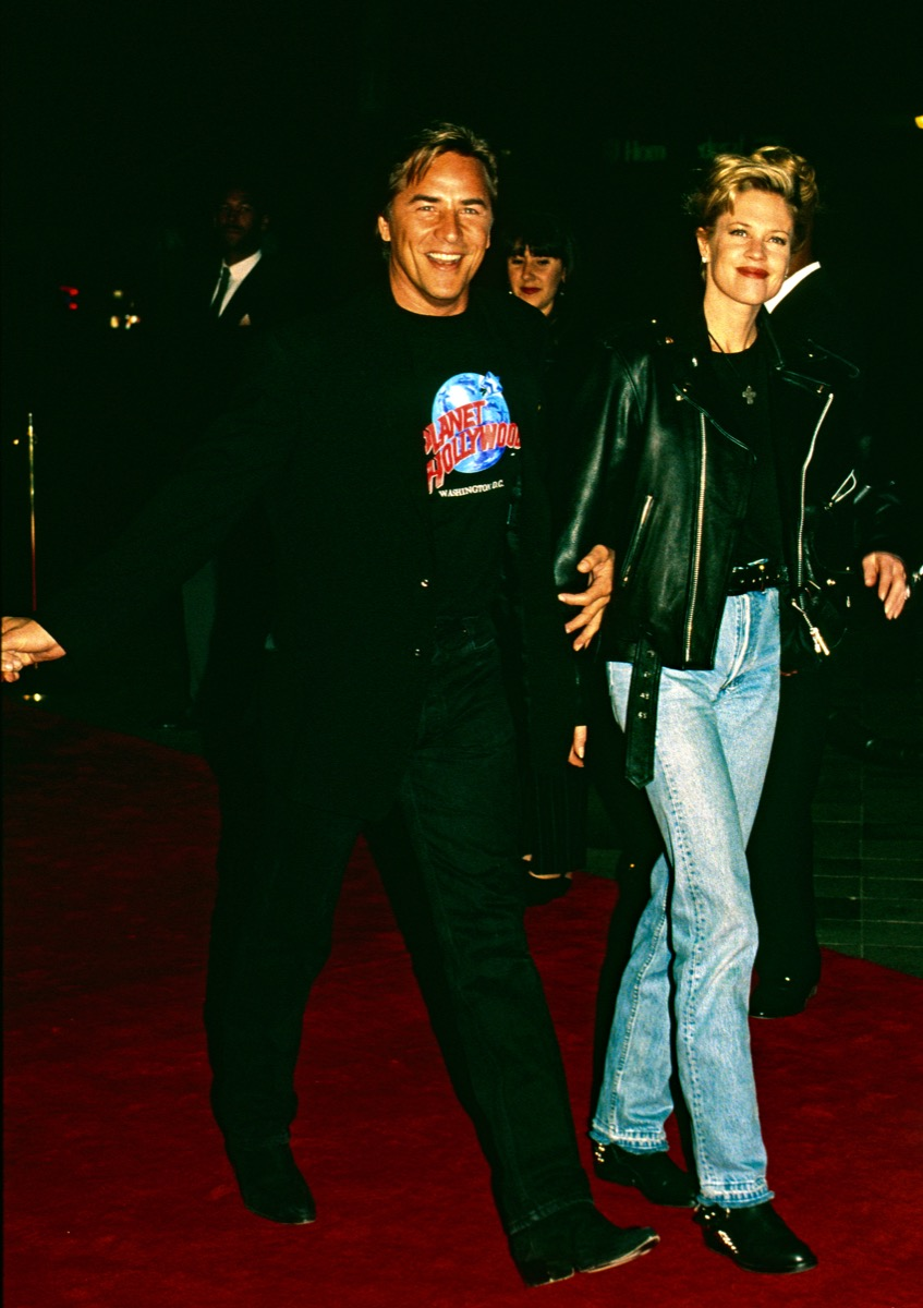 Washington, DC., USA, October 3, 1993 Don Johnson and Melanie Griffith arrive at the grand opening of the Planet Hollywood night club - Image