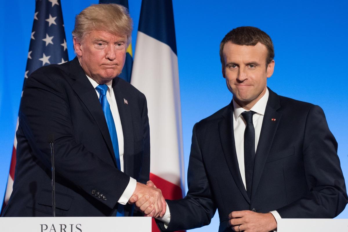 Donald Trump shaking hands