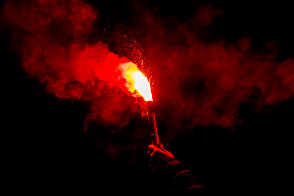 fire and smoke flare