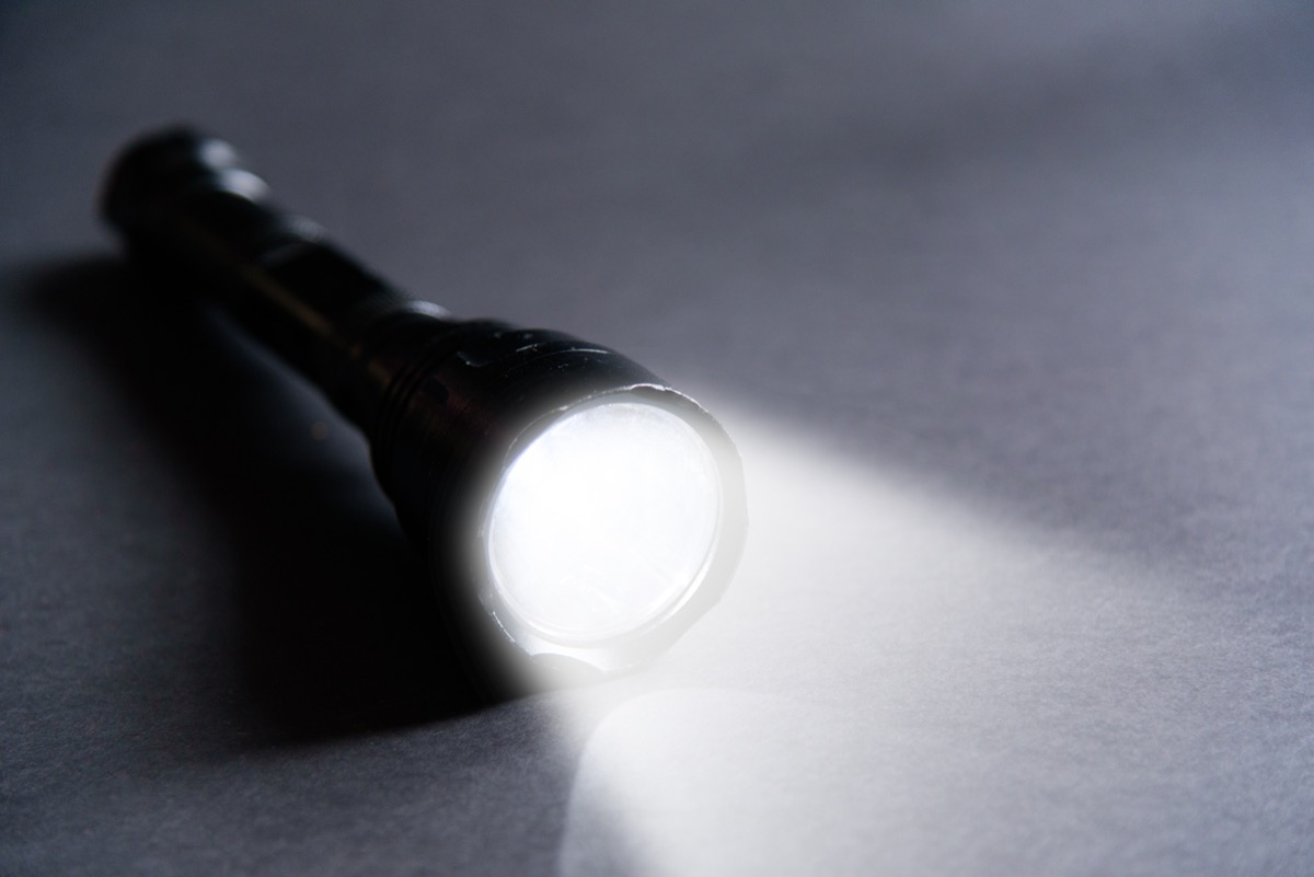 flashlight on the floor