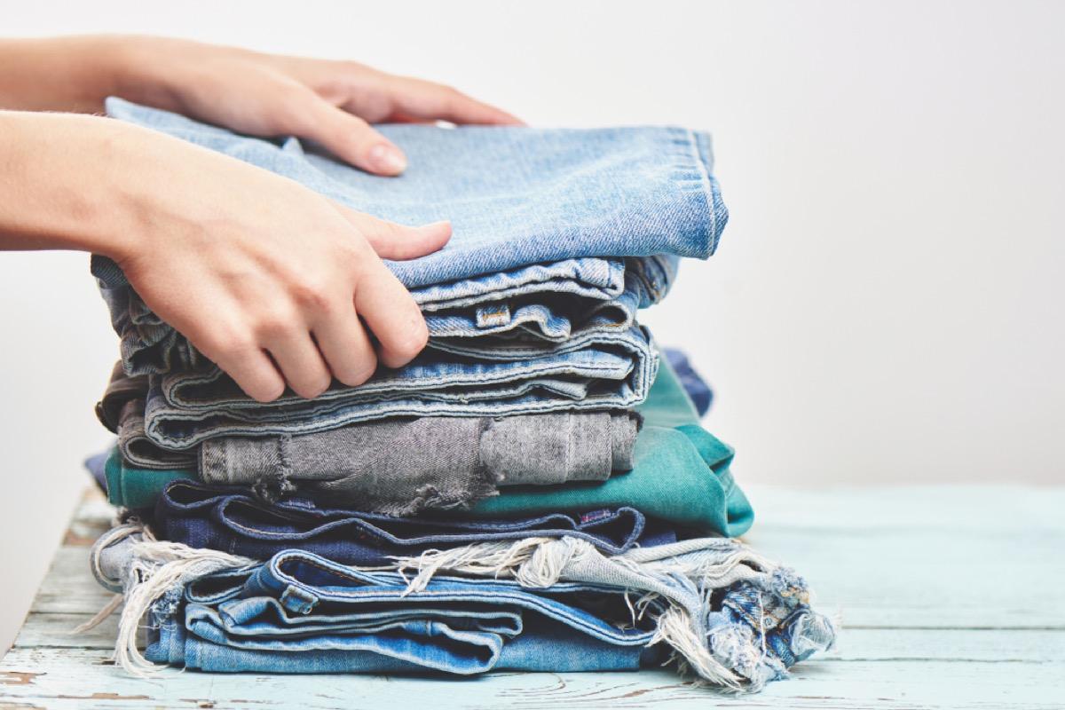 denim folding tips, get rid of kids stuff