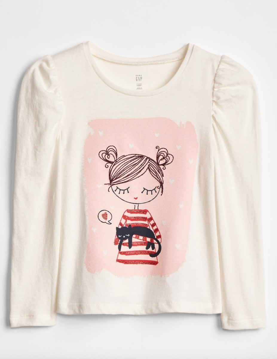 A Girls' Shirt From Gap Kids {Save Money on Kids' Clothes}