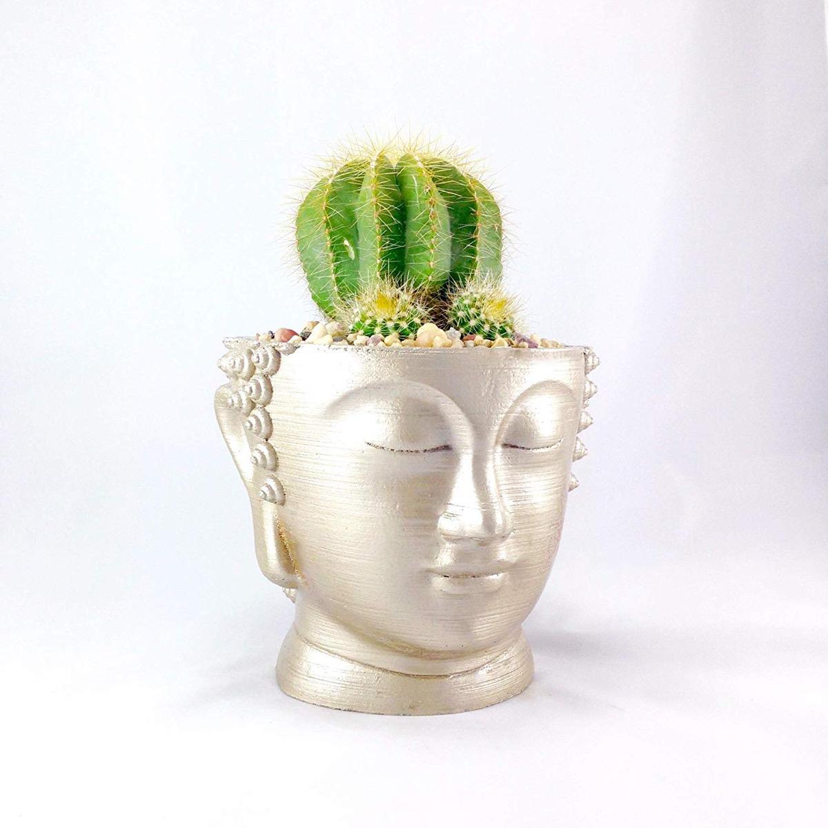Gold Buddha Planter {Handmade Items From Amazon}