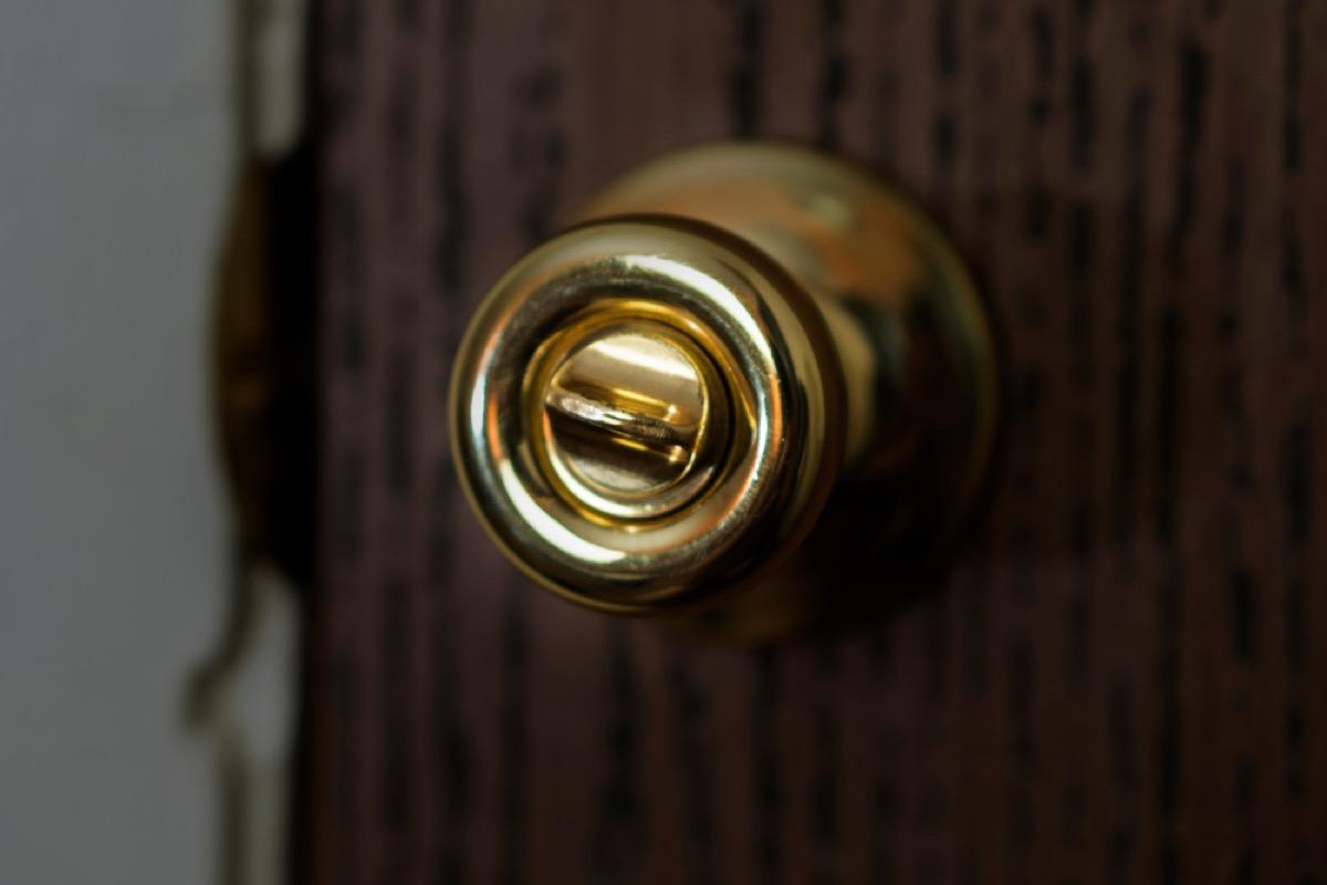 brass doorknob, things housekeepers hate