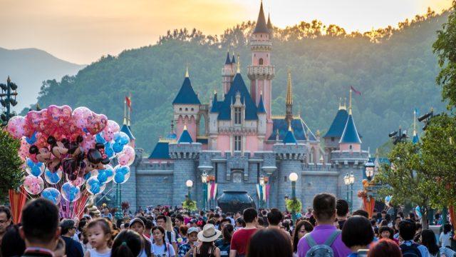 Hong Kong - 20 October 2017: Disneyland Resort in Hong Kong. - Image