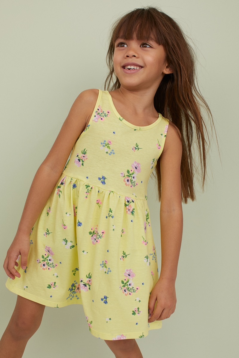 H&M Floral Jersey Dress {Save Money on Kids' Clothes}